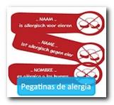 Pegatinas de alergia